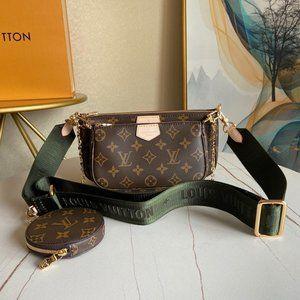 Brand New Ŀouis Vuittοn Brown&Green Crossbody Bag 💝K8